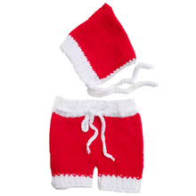 Christmas Newborn Hat Crochet Baby Clothes Photography,Cute Baby Cap Handmade Infant Costume Fotografia Newborn X'mas Gift,P1001
