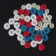 50pcs 4 holes 18L polyester button Apparel Supplies Sewing Accessories resin shirt button for DIY designer sample(China)