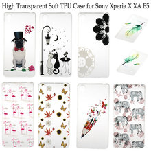 High Tranparent Ultra Thin Soft TPU Back Cover Case for Sony Xperia X XA E5 Mobile Phone Cases With Fashion Printed Patterns