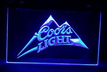 b-18 Coors Light beer bar pub club 3d signs LED Neon Light Sign home decor crafts(China)