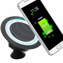 2018 Hot sale Qi Dock Rotating Mount Car Holder Charging Pad Wireless Charger For iPhone X/8 Plus for Samsung Note 8 S8 oneplus(China)