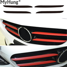Car Front Grille Sticker Mercedes Benz C200 2015 Per Set Decorative Carbon Fiber Styling Accessories - Good Store store