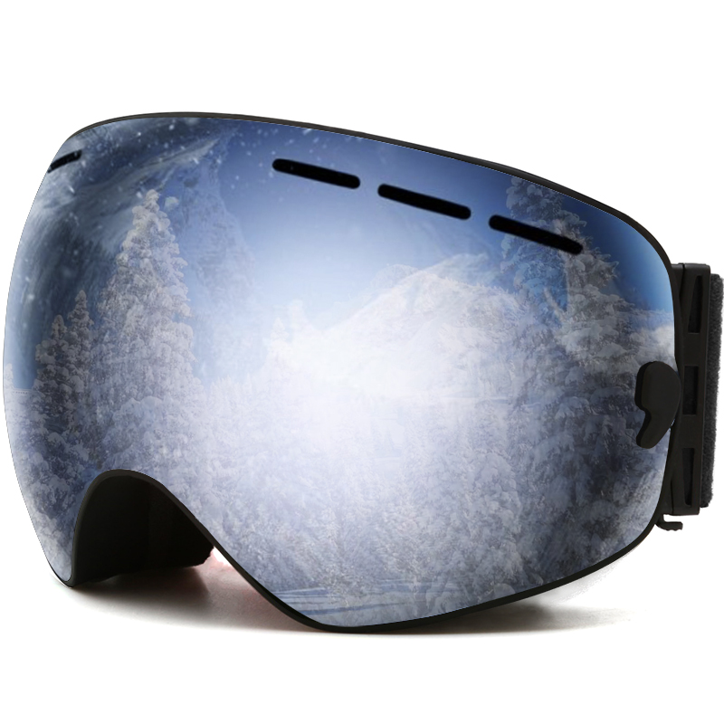 Ski Goggles, Lens Snow Goggles for Men Women - 100% UV Protection,OTG Anti-fog Windproof Snow Snowboard Goggles with Double Lens<br>