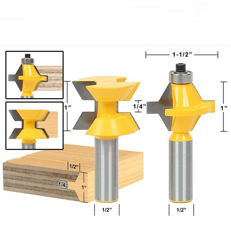 2pcs/lot Matched Tongue and Groove Router Bit Set- Edge Banding 1/2 Shank<br>