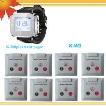 Wireless calling System , for restaurant . factory, Bank, KTV, Hospital, 1 mobile receiver with 8 buttons(China)