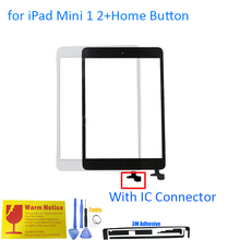ALANGDUO for iPad Mini 1 A1432 A1454 A1455 Mini 2 A1489 A1490 A1491 Apple Touch Screen Digitizer Front Panel with Home Button IC