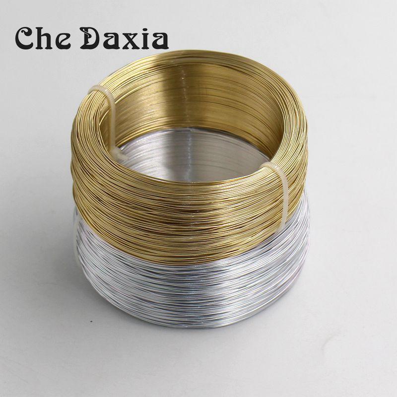 GOLDEN 0.8mm Aluminium Jewellery Modelling Craft Beading Florist Wire