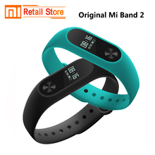 Original Global Version Xiaomi Mi Band 2 Heart Rate Fitness Tracker Smart Wristbands OLED Screen IP67 Waterproof Mi Band2