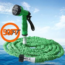 50FT Magic Expandable Garden Water Hose Flexible Stretch Watering Hose 7 Modes Spray Gun Water Pipe For Drip irrigation Washing(China)