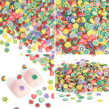 1000pcs Nail Art Phone Decorations Mix Design Fimo Slices Polymer Clay Nail Stickers Decoration Manicure Nail Art Decorations(China)