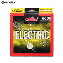Alice A608 Electric Bass String 4 string set Hexagonal Core Nickel Alloy Wound M-L For Choose