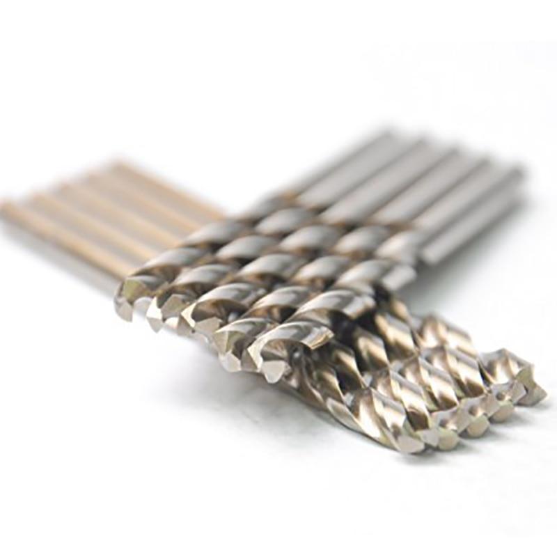 DRILLFORCE 10PCS,19/64 HSS General Purpose Heavy Duty Jobber Length Cobalt Twist Drill Bits Metalworking Drilling Bit For Metal<br>