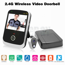 Front Door Video Door Eye Camera 2.4GHz Wireless Door Bell 3.5 inch LCD Handheld Take Pic