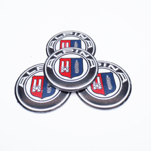 4pcs ALPINA Logo 56.5mm Wheel Center Hub Caps Emblem Sticker for BMW ALPINA Car Styling Emblem Badge Decal Sticker Accessories