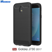 For Samsung Galaxy J730 Back Cover for J7 2017 Europe Version Soft Silicone Carbon Fiber Design Shockproof TPU Bumper Phone Case