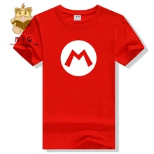 Super mario bros t shirts Mario Wario Luigi icon t shirt cute game fans daily wear cotton men's t shirts high quality game gift