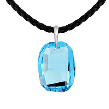 Crystal from Swarovski Fashion Casual Long Crystals Element Pendant Necklace for Women Design Sweater Dress All Match Jewelry(China)