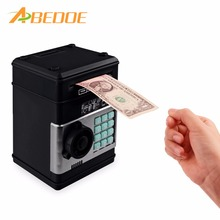 ABEDOE Kids Electronic Money Safe Box Password Saving Bank ATM for Coins and Bills cash Code Key Case system Money Saving box(China)