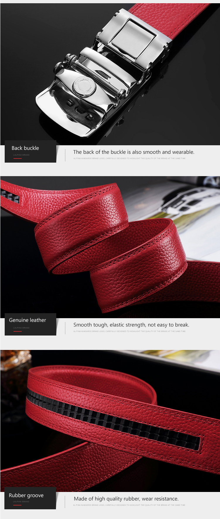 (9)Designer Weddin for Men Belts Genuine Leather Famous Brand Automatic Buckle Female Belt Red Strap Luxury Womens Belt Male