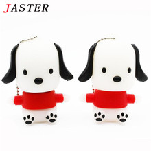 JASTER lovely littlw dog usb flash drive pendrive 8gb 32gb animal pen drive 16gb memory stick cartoon USB 2.0 free shipping