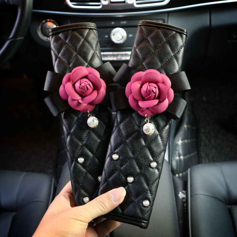 2pcs-Camellia-Flower-Crystal-Car-Safety-Belt-Cover-Seat-Harness-Shoulder-Pad-Car-Styling-2