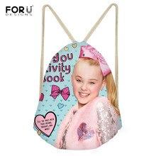 FORUDESIGNS Super JOJO Siwa 3D Print School Bags for Teenage Girls Drawstring Bag Students Casual Bookbag Travel Beach Bag Bolsa(China)