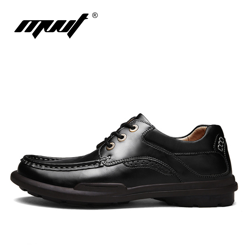 MVVT 2016 Autumn Casual Leather shoes Genuine Leather Men Shoes Men flats shoes black soft and comfortable insole Casual shoes<br>