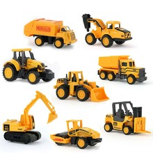 8 Styles Diecast Engineering cars Classic toys Children vehicle Mini alloy construction vehicle Educational Toys For Christmas