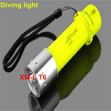 Professional LED Dive Torch Lantern Lighting Underwater Diving Flashlight Torch Waterproof Diver Lamp Use AAA/18650 battery(China)