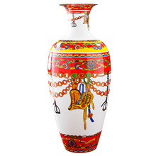 Luxury Royal Room Decoration Original Design Porcelain Flower Vase For New Year Gifts(China)