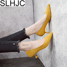 Buy SLHJC Low Heel Pumps Shoes Spring Summer Classic Thin Heels Pointed Toe Women New 2018 Office Work Pumps Shoes 3 CM Heel for $14.99 in AliExpress store