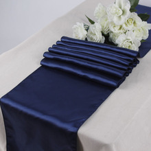 "Hot Sale Good quality 10PCS/lot navy blue Hotel Restaurant Satin Table Runners 12"" x 108"" Christmas Wedding Party Decorations"