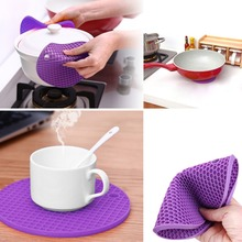 1 piece thick Non Slip heat Resistant Hot Pads Multipurpose Silicone Pot Holders, Trivets, Jar Openers, & Spoon Rests