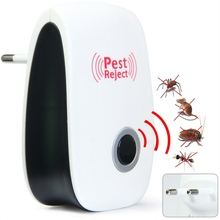 Hot Enhanced Version Electronic Ultrasonic Anti Mosquito Insect Repeller Rat Mouse Cockroach Pest Reject Repellent EU/US Plug
