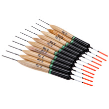 10Pcs/lot 2g Fishing Floats Paulownia Wood Fishing Tackle Tool Fish Wooden Floats Suit For Different Fishing Environment