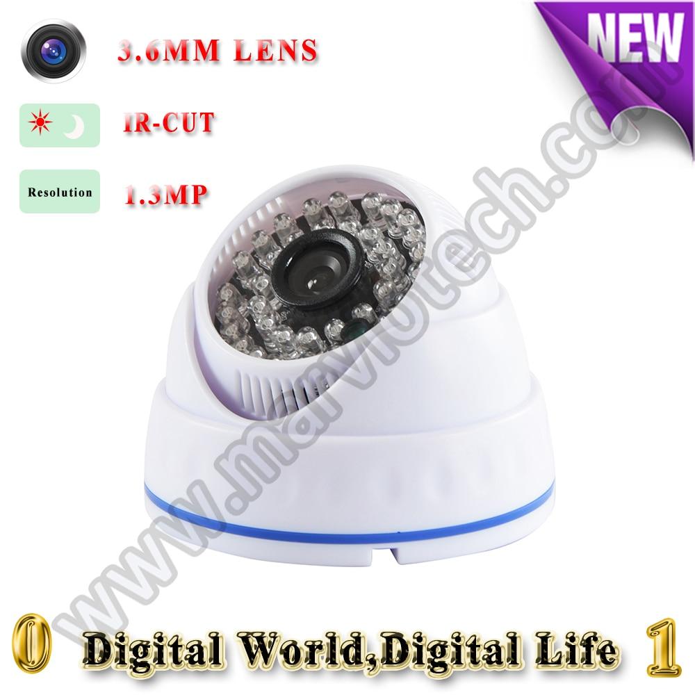 1.3MP Security IP Camera de seguridad Home Video Surveillance 30m Night Vision Video Mini Dome Camera de videovigilancia<br><br>Aliexpress