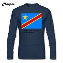 Democratic Republic Of The Congo Flag And Name T Shirt Men S-XXL O Neck Long Sleeve T-Shirts Male Clothes Funny Shirt Cheap Tops