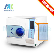 New Class B Autoclave with Printer 12 Liters Steam Sterilizer 12L Vacuum Steam Dental Sterilizer with CE Free shipping(China)