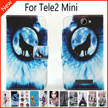 For Tele2 Mini Wallet Card Slots Book Style Flip PU Leather Case Cover Phone Case Fashion !
