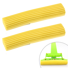 Free Shipping 2pcs Household Sponge Mop Head Refill Replacement Home Floor Cleaning Tool(China)