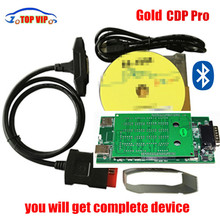Good quality New Design Gold TCS CDP + 2015 R3 Keygen TCS CDP NO Bluetooth NEW VCI Auto OBD Scanner For CAR/TRUCK Generic 3 in 1
