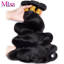 Malaysian Body Wave Bundles Mi Lisa Hair Weave Can Buy 4 or 3 Bundles 10-28 inch 1 Pc Non Remy Hair Extension Human Hair Bundles