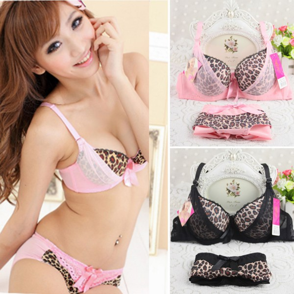 ETOSELL Women Sexy Leopard Cotton Bras+Panties Suits 9