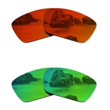 aba87e4fd7 Glintbay 2 Pairs Polarized Sunglasses Replacement Lenses for Oakley Fuel  Cell Fire Red and Emerald Green