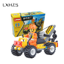 City Construction Engineering Vehicles Small Crane Buliding Block Bricks 52pcs/set Children Educational Toy
