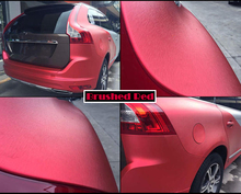 Metal Brushed Finishing Aluminum Vinyl Wrap Red Car Wrapping Metallic Brushed Steel Wrap Film With Air Release 1.52*30M/Roll