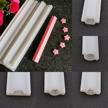 Heart Round Silicone Tube Column Mold DIY Candle Soap Mould Templet Hand Craft Festive Party Supplies Holiday DIY Decorations(China)