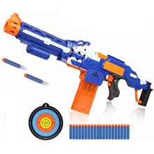 Kids Electric Soft Bullet Gun Toys Airsoft Pistol Sniper Rifle Plastic Gun 20 Bullets 1 Target Shooting Guns Toy Boy Gift orbeez(China)