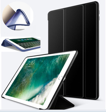 Nice cover for apple ipad air 2 case+slim thin+tpu silicone soft back+360 full protective+magnetic smart PU leather case skin