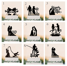 "Wedding Cake Topper Silhouette Bride and Groom with ""Mr & Mrs"" Acrylic Cake Topper(China)"
